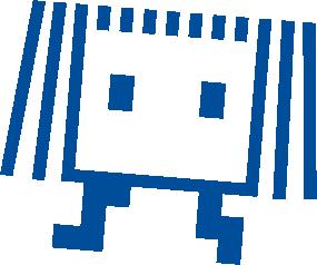 Wanderbühne blau